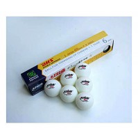 DHS Table Tennis Balls One Star White x 6