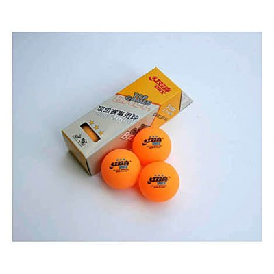 DHS Table Tennis Balls Three Star Orange x 3 NOW ONLY £1.99 !