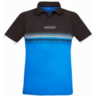 Donic Draft Table Tennis Match Shirt Black/Diva Blue