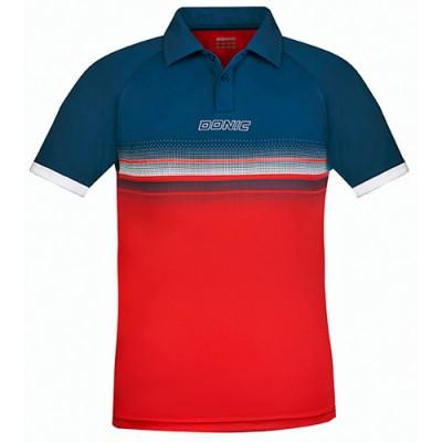 Donic Draft Table Tennis Match Shirt Navy/Red