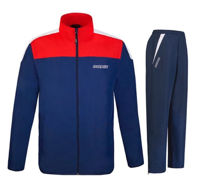 DONIC Fuse Table Tennis Tracksuit Navy/Red
