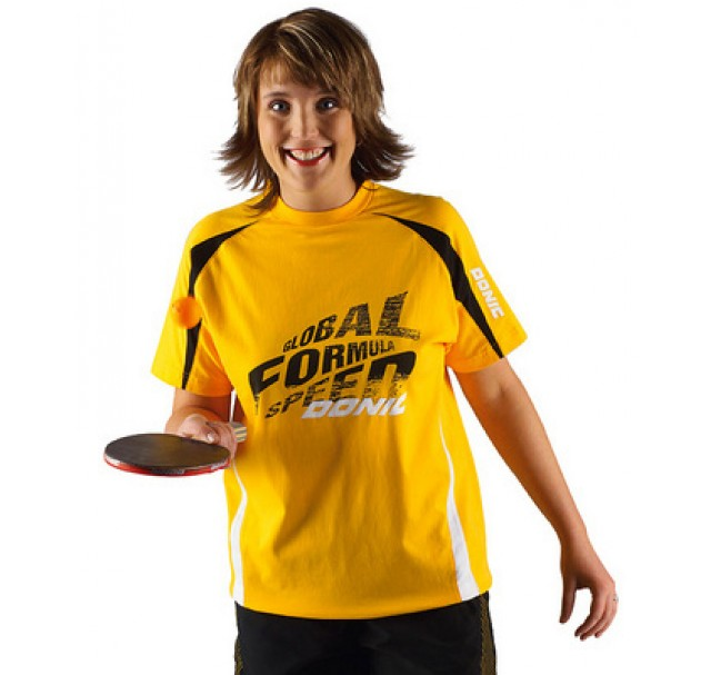 DONIC Global Florida Table Tennis Shirt Yellow Now £10.00 !