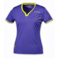 DONIC Ladies Columbia Table Tennis Shirt Purple/Sulphur Yellow