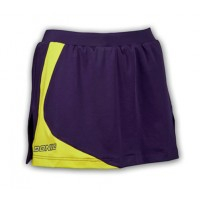 DONIC Ladies Georgia Table Tennis Skirt Aubergine/Yellow