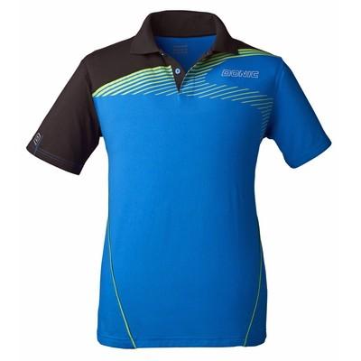 DONIC Orbitflex Table Tennis Shirt Cyan Blue/Black