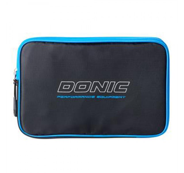 DONIC Pixel Table Tennis Bat Wallet Case Single Black/Cyan