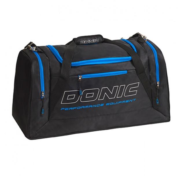 DONIC Sentinel Table Tennis Sports Holdall Bag Black/Cyan