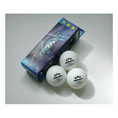 Donic Table Tennis Balls Three Star White X3 NOW ONLY £1.99 !