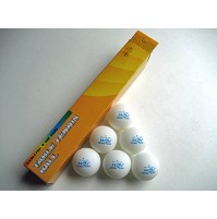 Double Fish Table Tennis Balls One Star White x 6