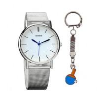 Geneve Quartz Stainless Steel Wristwatch Set NEW