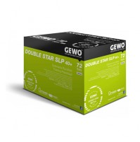 GEWO Double Star SLP Table Tennis Balls 40+ White x 72