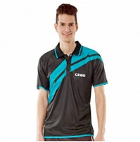 Gewo Drive Table Tennis Shirt Black/Aqua