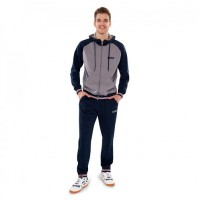 Gewo Milo Table Tennis Hooded Tracksuit Grey/Blue