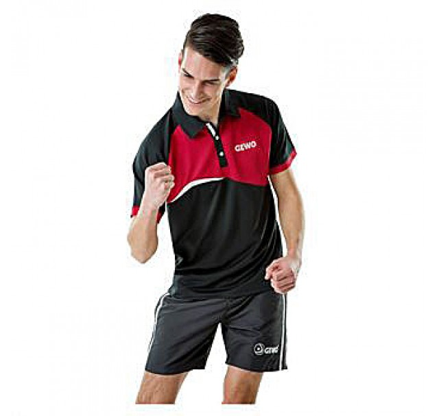 Gewo Nova Table Tennis Shirt Black/Red NOW £16.50 !