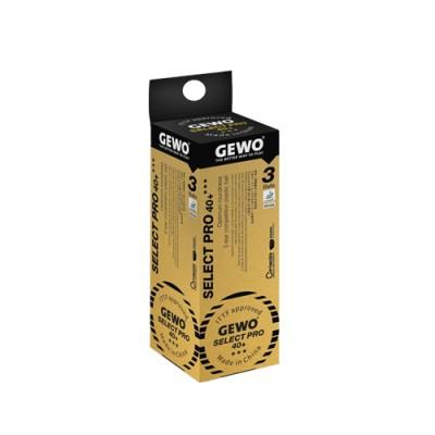 Gewo Select Pro Table Tennis Balls 40+ Three Star White x 3