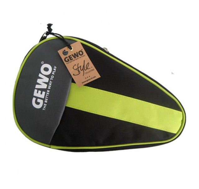 Gewo Style Round Table Tennis Bat Case Black/Lime Green NOW ONLY £5.50 !