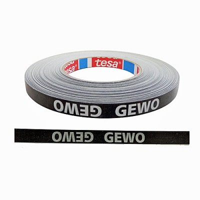 Gewo Table Tennis Bat Edge Tape Black/Silver - NOW ONLY £1.45 !
