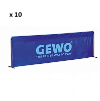 Gewo Table Tennis Court Surrounds - Blue x 10