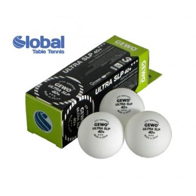 Gewo ULTRA Table Tennis Balls SLP 40+ Three Star White x 3