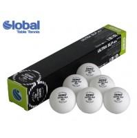 Gewo ULTRA Table Tennis Balls SLP 40+ Three Star White x 6