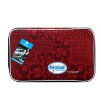 Global Ninja Table Tennis Bat Wallet Case Retro Red