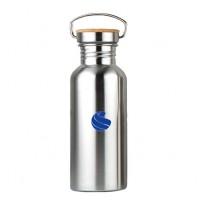Global Sports Stainless Steel Drinks Bottle Bamboo 500ml NEW
