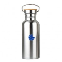 Global Sports Stainless Steel Drinks Bottle Bamboo 500ml NEW