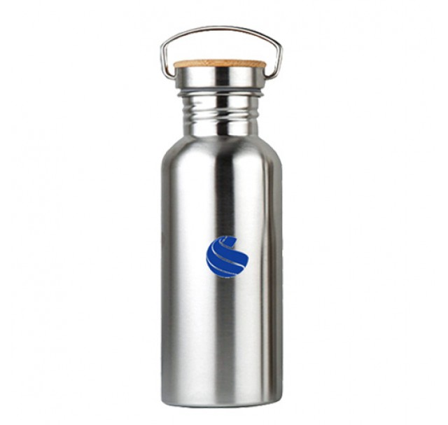 Global Sports Stainless Steel Drinks Bottle Bamboo 500ml