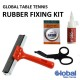 Global Table Tennis Rubber Easy Fixing Kit NEW