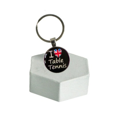 'I LOVE TABLE TENNIS' Keyring NEW