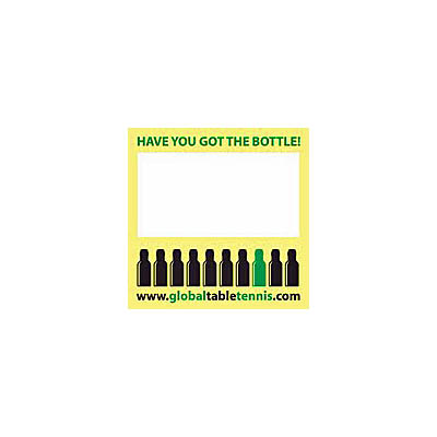 Global Sports Bottle Nametag Sticker