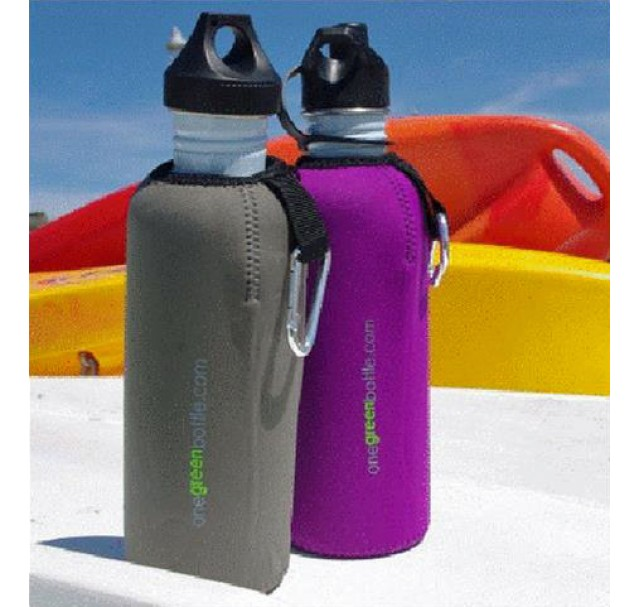 Mudpuppy Bottle Jacket Neoprene Black 1000ml NOW ONLY £2.99 !