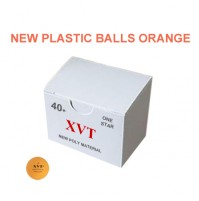 XVT Excel Table Tennis Balls 40+ Poly One Star Orange x 50 NEW