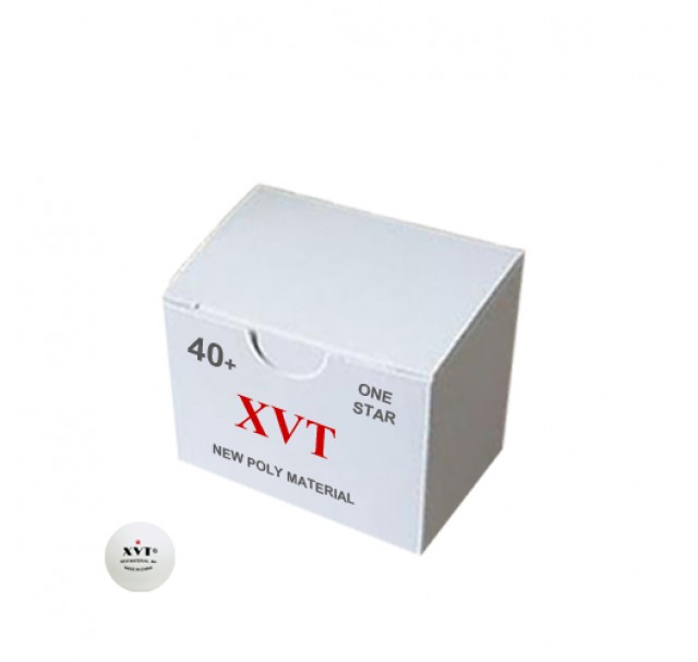 XVT Excel Table Tennis Balls 40+ Poly One Star White x 50 NEW