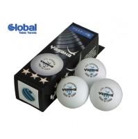 Yasaka Table Tennis Balls Cell-free 40+ Three Star White x 3