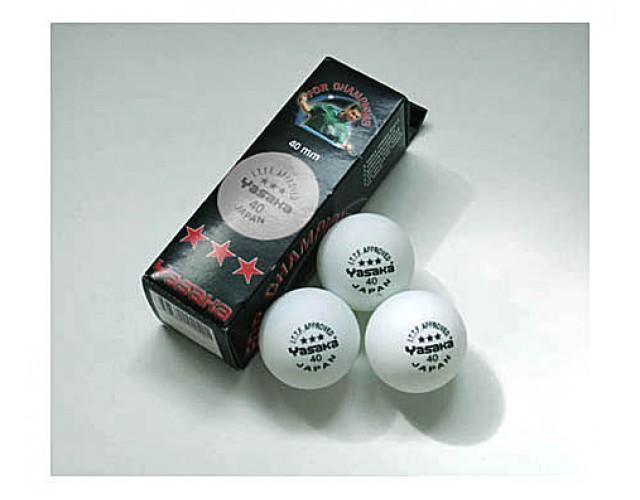 Yasaka Table Tennis Balls Three Star White x3 NOW ONLY £1.99 !