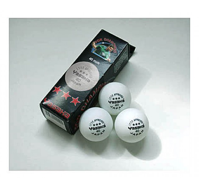 Yasaka Table Tennis Balls Three Star White x3 NOW ONLY £1.99 !